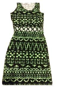 🔥 tribal print bodycon cut out dress